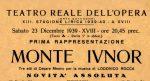 1939-40 Teatro Reale dell'Opera